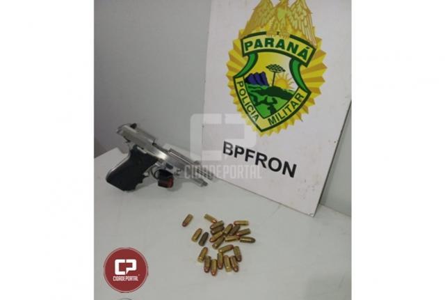 BPFron apreende arma e munições durante Operação Hórus em Nova Santa Rosa