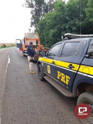 PRF detém assaltante envolvido em sequestro e recupera guincho roubado em Toledo