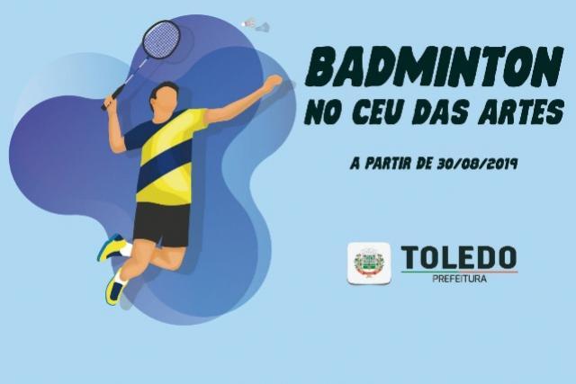 Aulas de Badminton serão realizadas no Centro de Artes e Esportes de Toledo