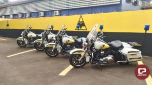 Polícia Rodoviária Estadual da 3° Cia/BPRv recebe quatro motocicletas Harley Davidson