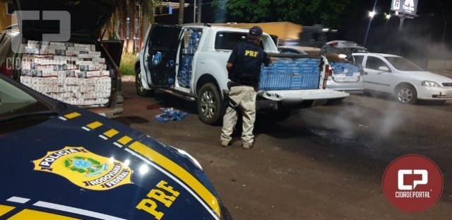PRF apreende veículos carregados com cigarros contrabandeados em São Miguel do Iguaçu