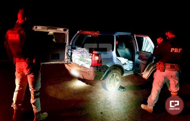 PRF prende casal pelo transporte de 250 kg de defensivos agrícolas do Paraguai em Céu Azul
