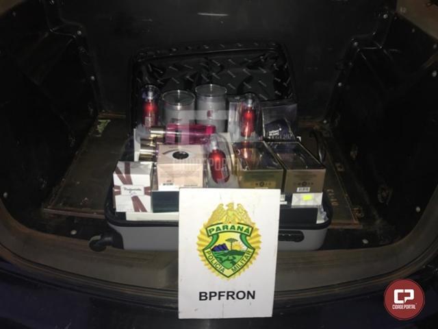 BPFron apreende produtos estrangeiros em ônibus na cidade de Céu Azul