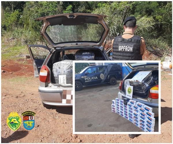 Uma pessoa foi presa e seu veículo apreendido com contrabando em Santa Helena na Operação Hórus