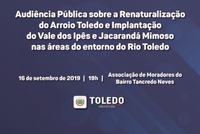 Audiência pública discute renaturalização no parque linear do arroio Toledo