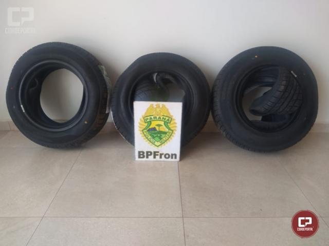 BPFron apreende pneus contrabandeados em Nova Prata do Iguaçu