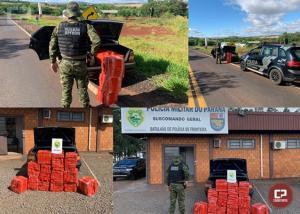 BPFron prende traficante e apreende 258 kg de maconha em Entre Rios do Oeste
