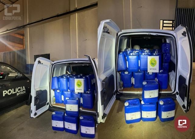 BPFron apreende um mil litros de agrotóxicos em Santa Terezinha de Itaipu