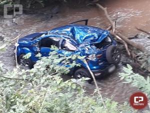 Casal de idosos passam a noite na mata após acidente com carro na PR-317 em Toledo