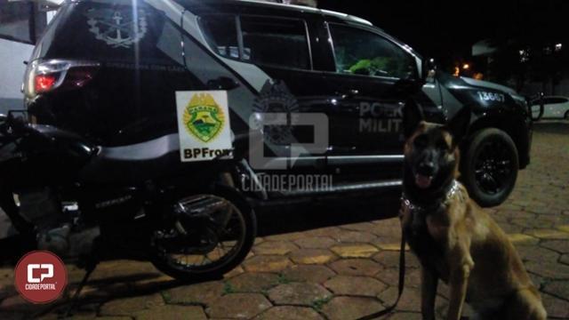 BPFron recupera motocicleta furtada durante Operação Hórus em Cascavel