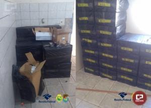 BPFron apreende diversas caixas recheadas com cigarros contrabandeados em Santa Terezinha de Itaipu