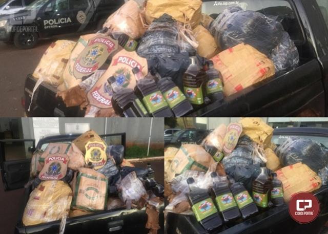 PF e BPFron flagram 3 pessoas transportando mercadorias irregulares em Foz do Iguaçu