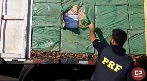 PRF apreende meio milhão de carteiras de cigarro em Quatro Pontes