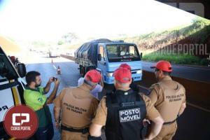 Operação Radar realizada pela PRE de Cascavel apresenta aplicativo para segurança das rodovias