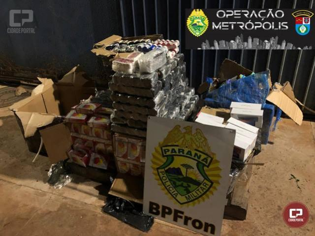 BPFron apreende produtos contrabandeados em Foz do Iguaçu durante Operação Metrópolis