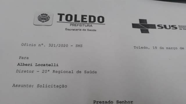 Toledo trabalha para ampliar número de respiradores desde 2019