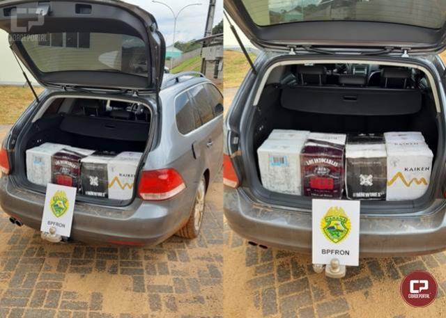 BPFRON apreende veículo com 48 garrafas de vinho na Operação Hórus em Barracão