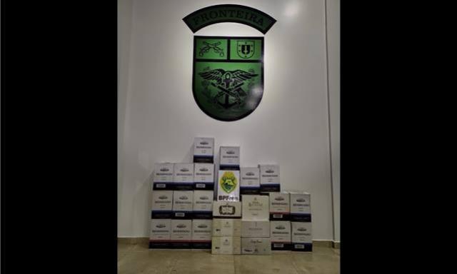BPFron apreende carga de vinhos de origem estrangeira em Santo Antônio do Sudoeste