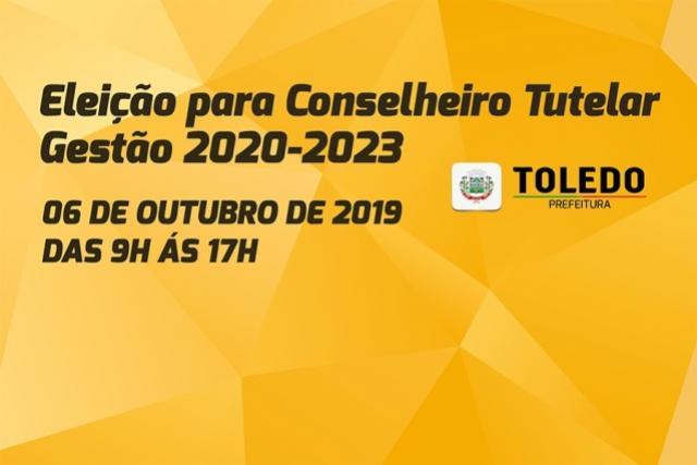 Eleição para os novos conselheiros tutelares acontece neste domingo, 29, em Toledo