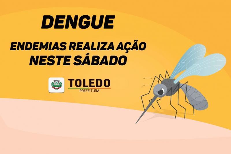 Dengue: Endemias realiza ação neste sábado, 30, em Toledo