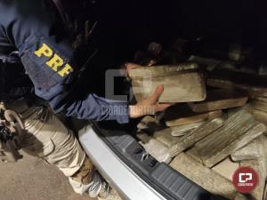 PRF prende traficante com 140 kg de maconha em Céu Azul