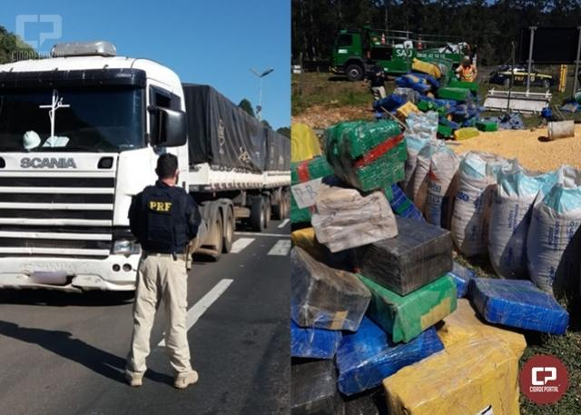 PRF apreende mais de 10 mil quilos de maconha em Irati e atinge a marca de 106 toneladas no Paraná