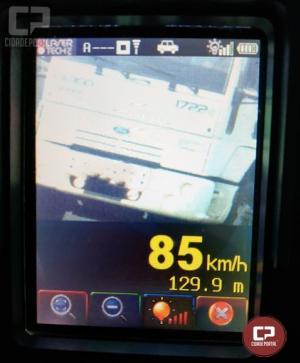 PRE autua 62 motoristas em operação radar no município de Cascavel