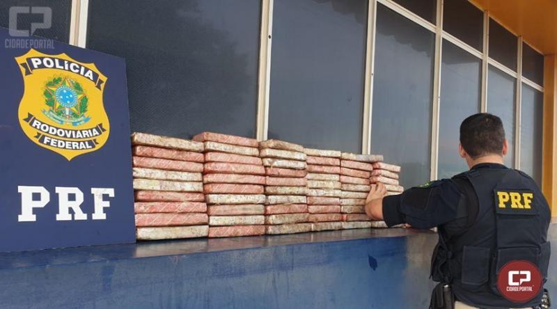 PRF prende casal com 45 kg de maconha em Santa Terezinha de Itaipu