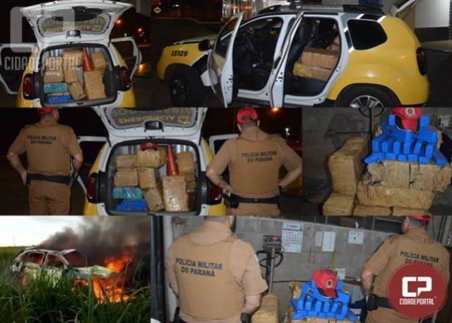 Polícia Rodoviária Estadual de Goioerê apreende 273 kg de maconha