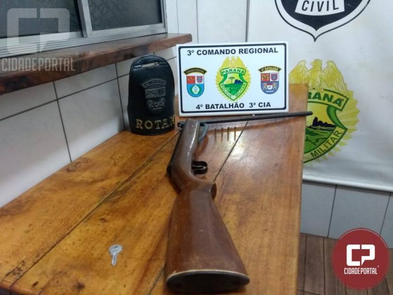 Polícia Militar prende dois suspeitos, apreende arma de fogo e munição em Mandaguari
