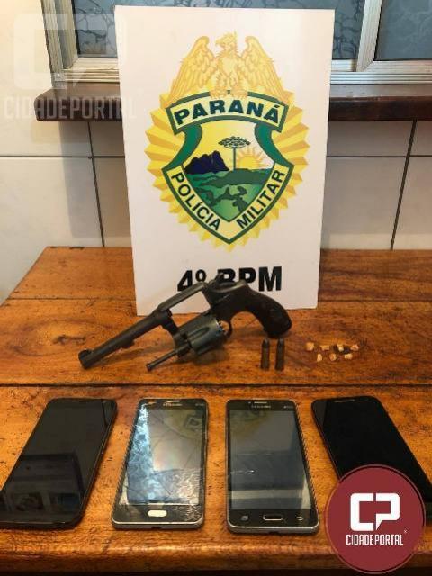 Polícia Militar prende um casal por tráfico de drogas e posse ilegal de arma de fogo em Mandaguari