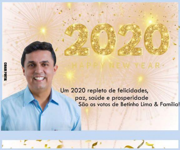 Betinho Lima & Família desejam um 2020 repleto de felicidade e prosperidade!