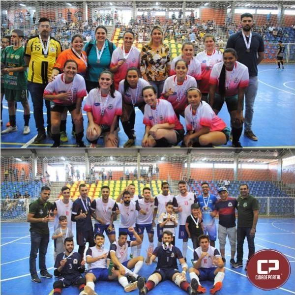 Ubiratã comemora o título no Futsal masculino e Campo Mourão fica com o Ouro no Feminino