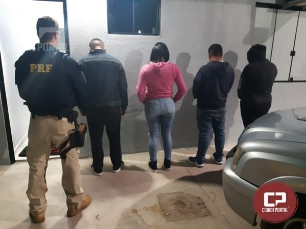 PRF Intercepta em Ubiratã quarteto acusado de furto dos equipamentos do HU de Londrina