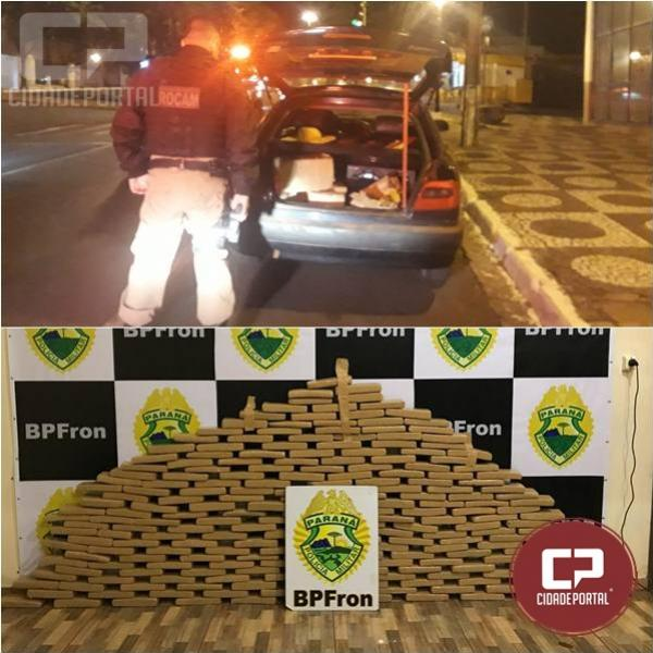 BPFron prende duas pessoas e apreende 132 kg de entorpecentes em Guaíra