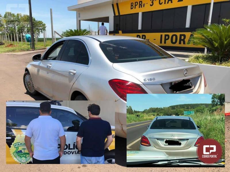 Posto Policial de Iporã recupera veículo Mercedes Benz de locadora e prende duas pessoas