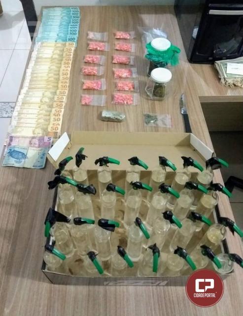 Polícia Militar de Umuarama apreende grande quantidade de Ecstasy, Lsd, Lança Perfume e Maconha