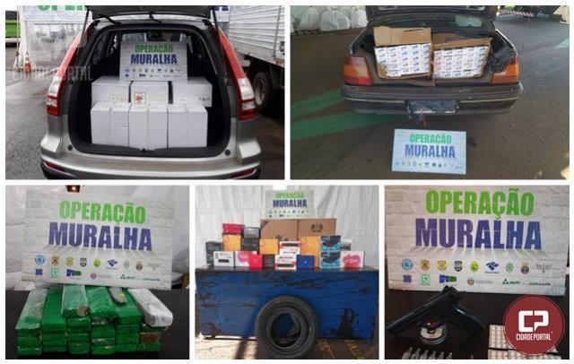 Operação Muralha realizada nas fronteiras do país fiscaliza descaminho, tráfico e contrabando