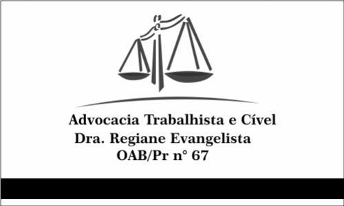 Advocacia Trabalhista - Dra. Regiane Evangelista
