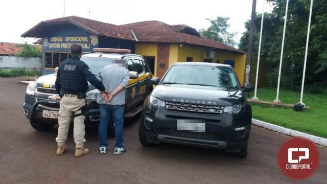 Polícia Rodoviária Federal recupera veículo e prende indivíduo na unidade operacional de Quatro Pontes/PR