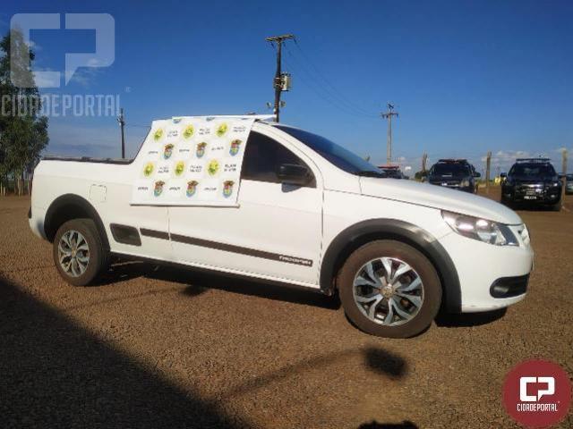 BPFron recupera veículo no município de Entre Rios do Oeste - PR