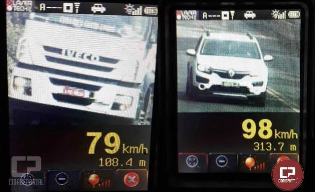 30 motoristas foram autuados pela Polícia Rodoviária Estadual durante a operação Radar em Toledo