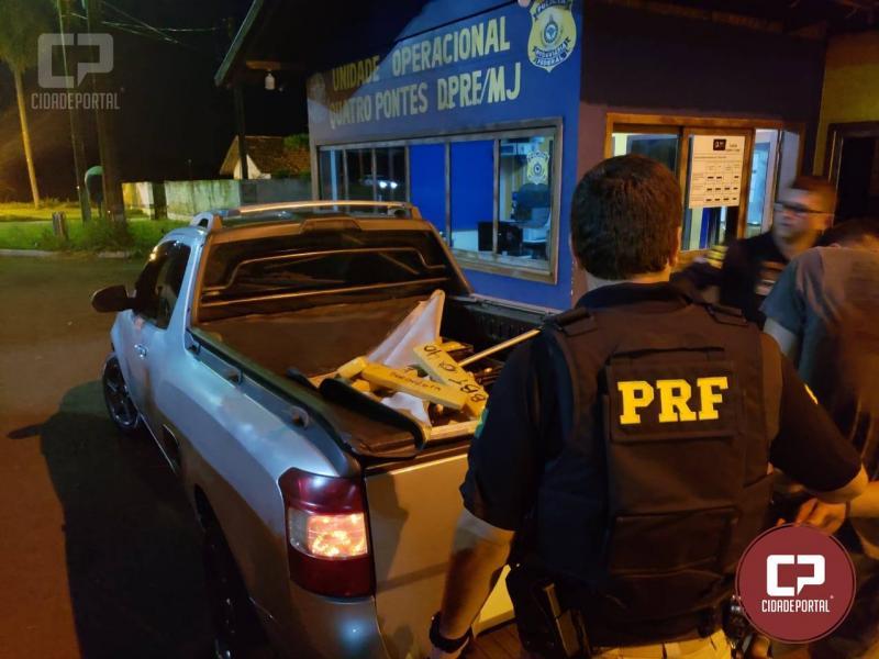 Polícia Rodoviária Federal apreende 318 kg de maconha em Quatro Pontes-PR
