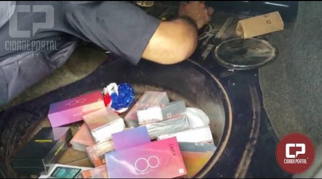 PRF encontra celulares em fundo falso de tanque de combustível no município de Santa Terezinha de Itaipu