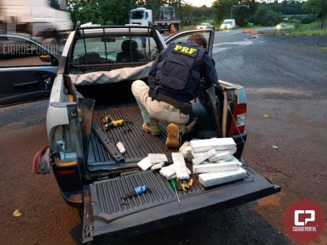 Polícia Rodoviária Federal apreende 92 kg de maconha em Céu Azul
