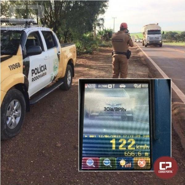 Durante operação radar em Cascavel PRE autua 30 motoristas por excesso de velocidade