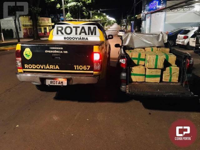 ROTAM da PRE de Cascavel apreende 625 kg de maconha e prende dois traficantes