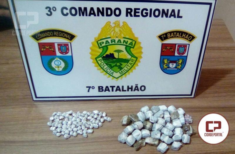 Polícia Militar de Mariluz encaminha jovens para delegacia por posse de entorpecentes