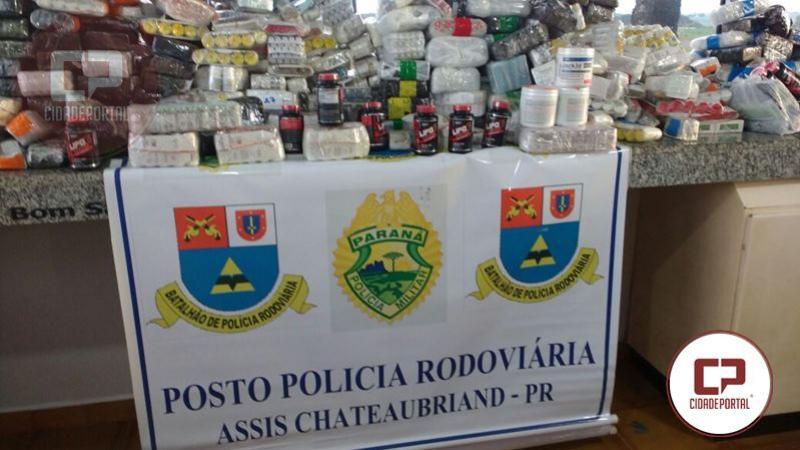Anabolizantes foram encontrados durante fiscalização da Polícia Rodoviária de Assis Chateaubriand