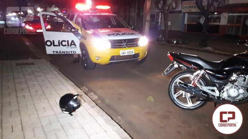 Perseguição policial na área central de Campo Mourão termina com uma motocicleta apreendida